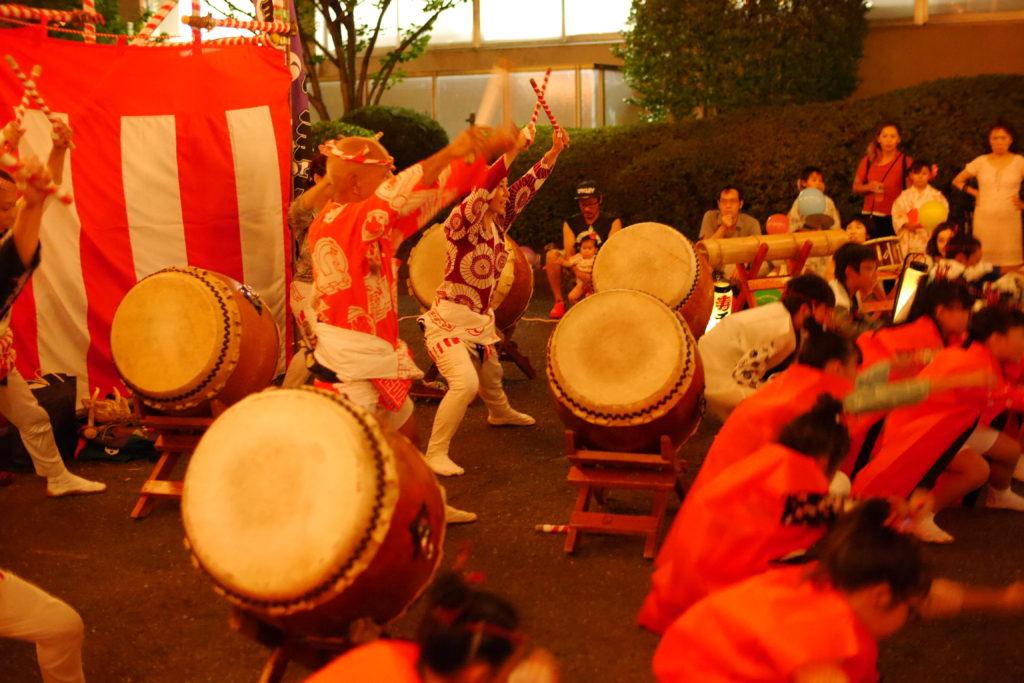 太鼓の演舞ソーラン節