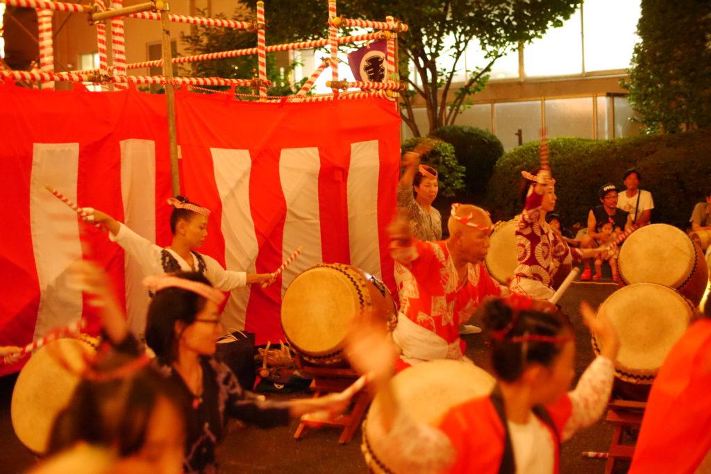 太鼓の演舞