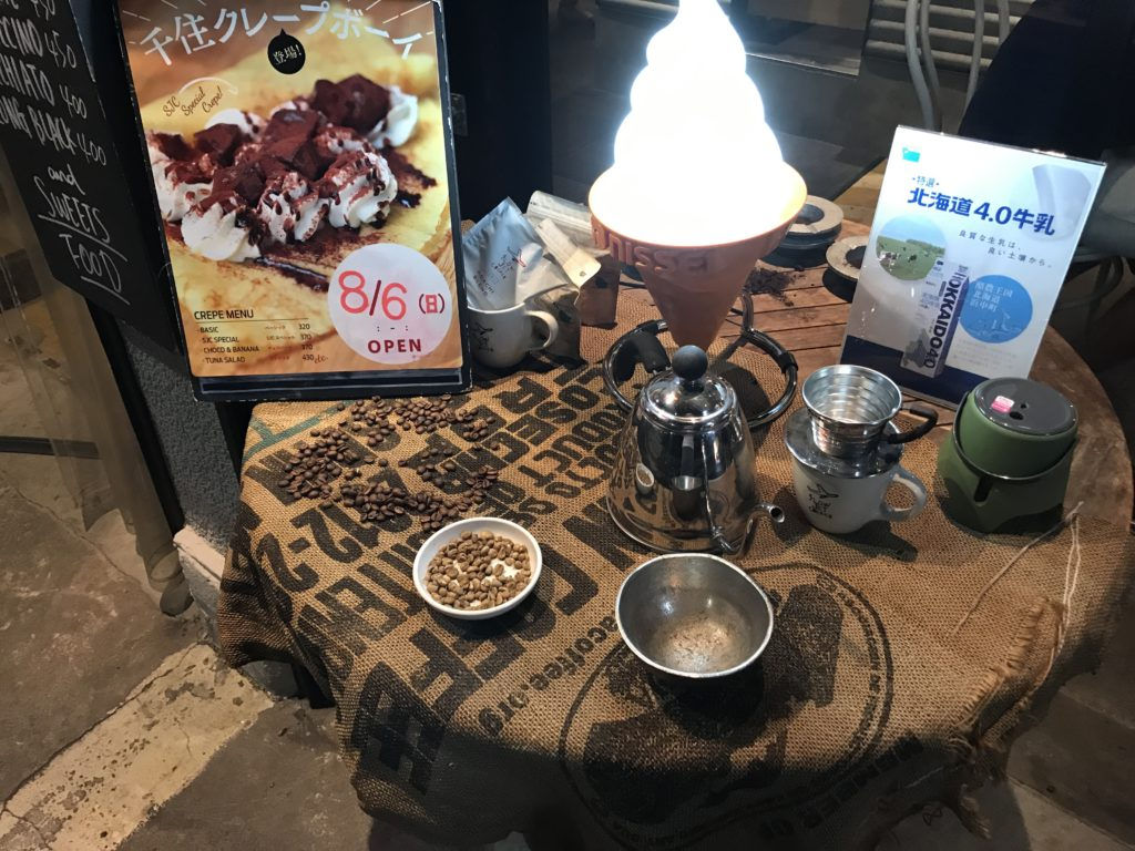 slowjetcoffee店頭グッズ