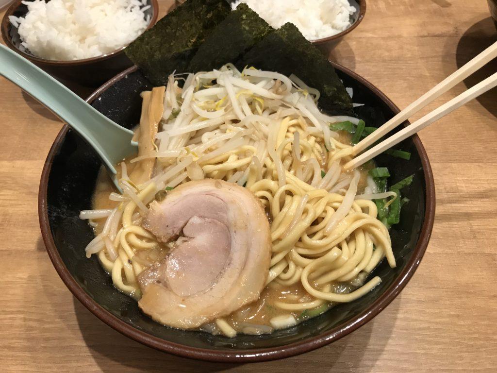 横浜家系ラーメン「横浜道」の濃厚生姜味噌ラーメン