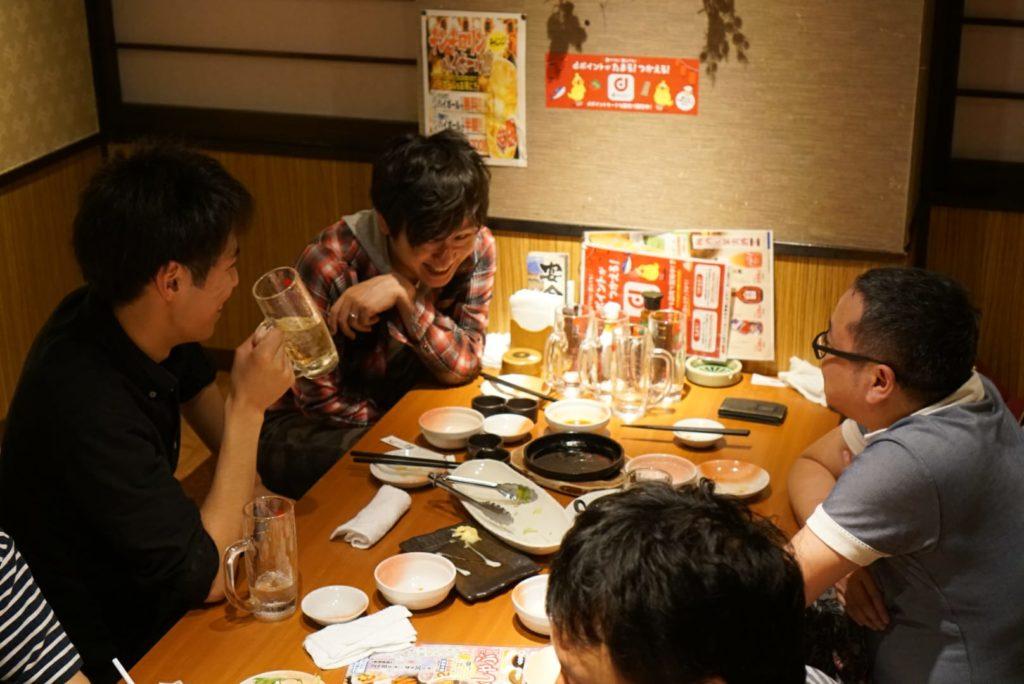 WordBench北千住開催後の飲み会02