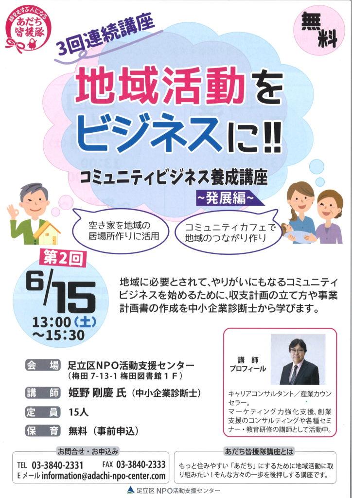 コミュニティビジネス養成講座~発展編~